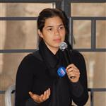 America Ferrera in Pennsylvania campaigning for Hillary Clinton 18669
