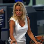 Pamela Anderson at LAX just before Canadian Thanksgiving 48470