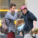 Andrew Garfield and Jesse Eisenberg go shopping in New York  84946