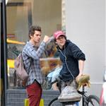 Andrew Garfield and Jesse Eisenberg go shopping in New York  84947