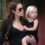Angelina Jolie Zahara and Shiloh in Monaco shopping 20440