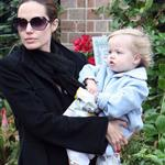 Angelina Jolie Shiloh Jolie Pitt bike riding  15837