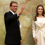 Angelina Jolie meets with German Foreign Minister Guido Westerwelle at the foreign ministry in Berlin 105466