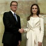 Angelina Jolie meets with German Foreign Minister Guido Westerwelle at the foreign ministry in Berlin 105469