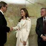 Angelina Jolie meets with German Foreign Minister Guido Westerwelle at the foreign ministry in Berlin 105470