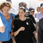 Angelina Jolie visiting the Syrian refugee camp Zaatari in Jordan 125780