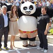 Angelina Jolie with Dustin Hoffman and Jack Black at Kung Fu Panda 2 photo call in Cannes 85183