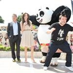 Angelina Jolie with Dustin Hoffman and Jack Black at Kung Fu Panda 2 photo call in Cannes 85184