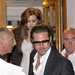 Angelina Jolie and Brad Pitt leave Tetou restaurant in France  85352