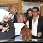 Angelina Jolie and Brad Pitt leave Tetou restaurant in France  85353