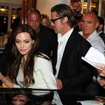 Angelina Jolie and Brad Pitt leave Tetou restaurant in France  85355