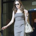 Angelina Jolie leaves The Roosevelt Hotel 111487