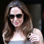 Angelina Jolie leaves The Roosevelt Hotel 111489