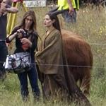 Angelina Jolie on location for Maleficent  118113