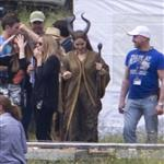 Angelina Jolie on location for Maleficent  118116