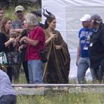 Angelina Jolie on location for Maleficent  118119