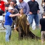 Angelina Jolie on location for Maleficent  118124