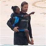 Brad Pitt and Zahara on vacation in the Galapagos Islands 112007