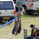 Angelina Jolie on the set of Maleficent 118637
