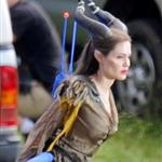 Angelina Jolie on the set of Maleficent 118638