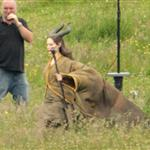 Angelina Jolie on the set of Maleficent 119151
