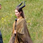 Angelina Jolie on the set of Maleficent 119157