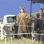 Angelina Jolie on the set of Maleficent 119160