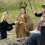 Angelina Jolie on the set of Maleficent 119161