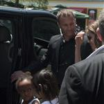 Angelina Jolie and her children Shiloh, Pax and Zahara leave The Hotel Europe   120068
