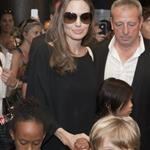 Angelina Jolie and her children Shiloh, Pax and Zahara leave The Hotel Europe   120071