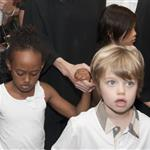 Angelina Jolie and her children Shiloh, Pax and Zahara leave The Hotel Europe   120073