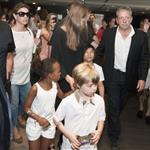 Angelina Jolie and her children Shiloh, Pax and Zahara leave The Hotel Europe   120083