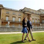 Prince William and Catherine walk hand in hand from Buckingham Palace in London 90652