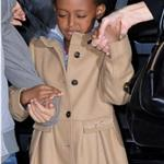 Angelina Jolie takes Shiloh, Zahara and Pax to the movies on the East Side of Manhattan 99859