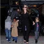 Angelina Jolie takes Shiloh, Zahara and Pax to the movies on the East Side of Manhattan 99861