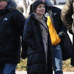 Angelina Jolie and Liev Schreiber shooting Salt in Washington DC 34329