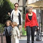 Angelina Jolie shops in Beverly Hills with her twins Knox and Vivienne and Brad Pitt's mother 107621