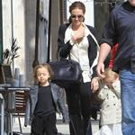Angelina Jolie shops in Beverly Hills with her twins Knox and Vivienne and Brad Pitt's mother 107623