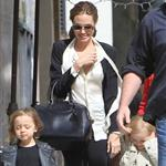 Angelina Jolie shops in Beverly Hills with her twins Knox and Vivienne and Brad Pitt's mother 107624