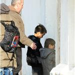 Angelina Jolie gorgessity with her kids at work in Venice  56959