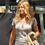 Jennifer Aniston wears wedges and tweaks her hard nipples on set in New York 43785