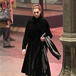 Anne Hathaway works on The Dark Knight Rises in LA 93606