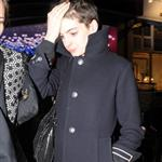 Anne Hathaway seen leaving the Box club in Soho, London 110745