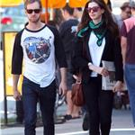 Anne Hathaway and Adam Shulman in Hollywood 96533