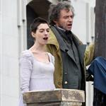 Anne Hathaway and Hugh Jackman film Les Miserables on location in London 111757