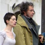 Anne Hathaway and Hugh Jackman film Les Miserables on location in London 111762