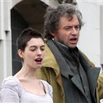 Anne Hathaway and Hugh Jackman film Les Miserables on location in London 111765