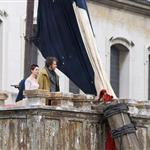 Anne Hathaway and Hugh Jackman film Les Miserables on location in London 111766