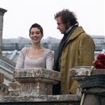Anne Hathaway and Hugh Jackman film Les Miserables on location in London 111774