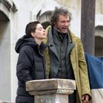 Anne Hathaway and Hugh Jackman film Les Miserables on location in London 111779